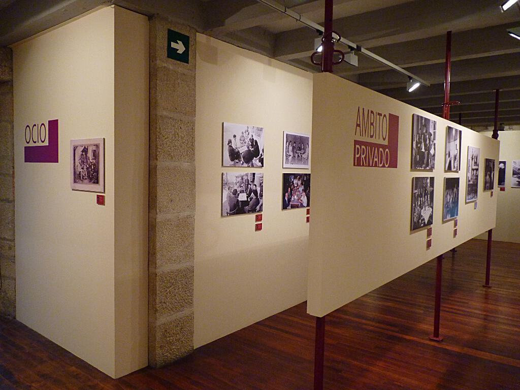 Vista parcial de la exposición temporal A Mirada dos Espazos. MER. 2013