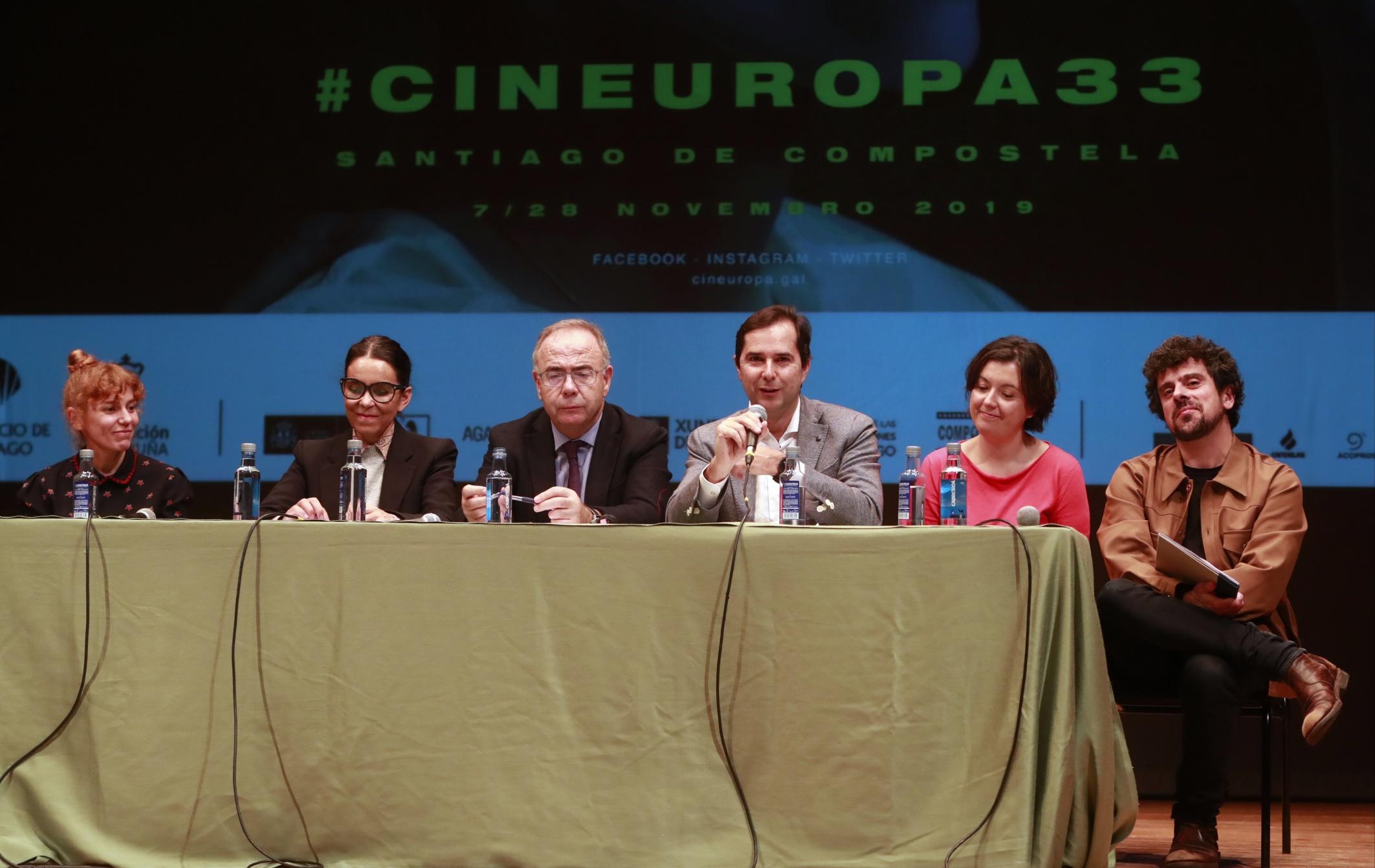 Un momento da presentación de Cineuropa