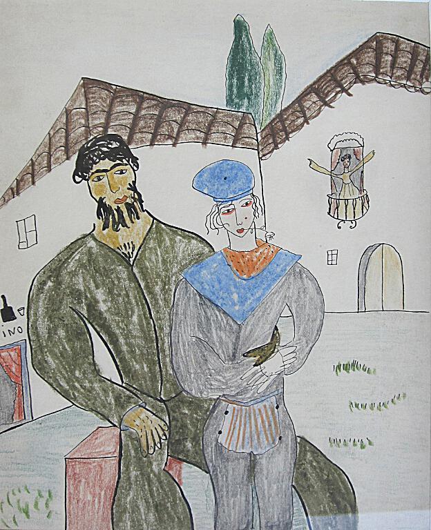 Debuxo de Federico García Lorca (1929)