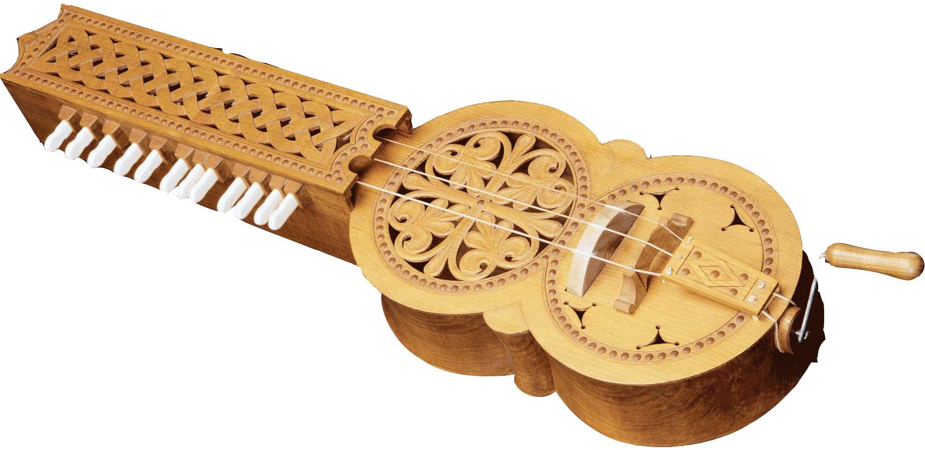 Organístrum, réplica do representado no Pórtico da Gloria da Catedral de Santiago