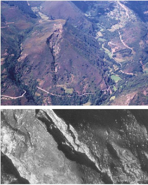 Exemplo de fotografía aérea e arqueoloxía: Mina da Toca. O Folgoso do Courel