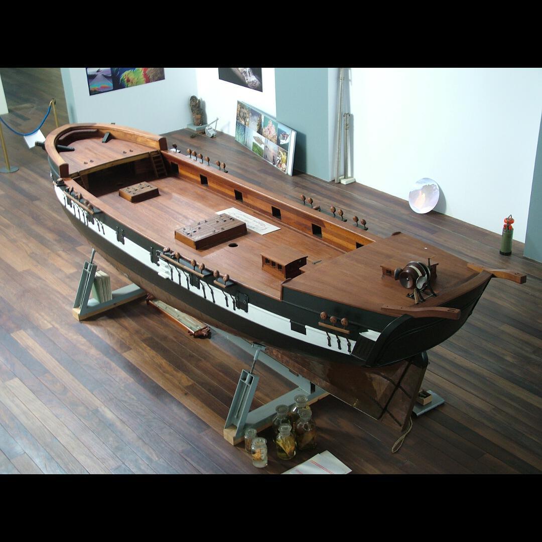 Modelo do navío Beagle. Réplica