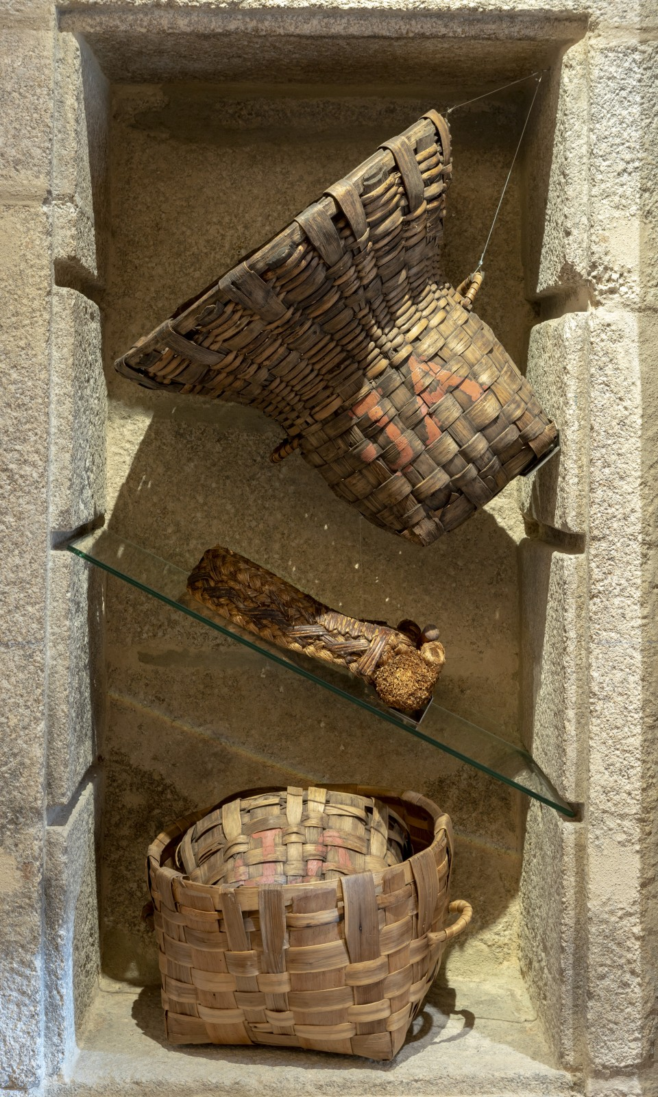 Sala 3 y cestos del Ribeiro en el Museo del Vino