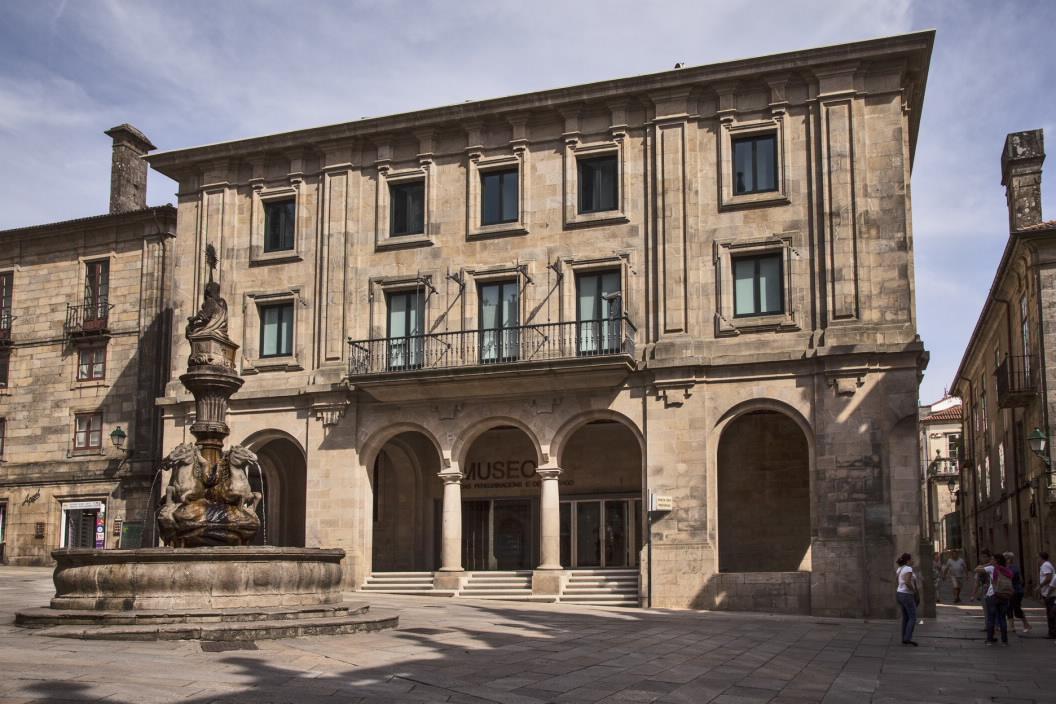 Nova sede do museo, na praza das Praterías